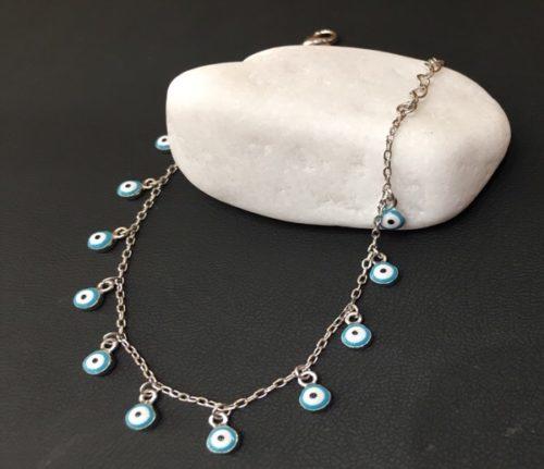 Ασημένιο βραχιολι με ματάκια-1-κοσμήματα-μαμόγλου-Αθήνα