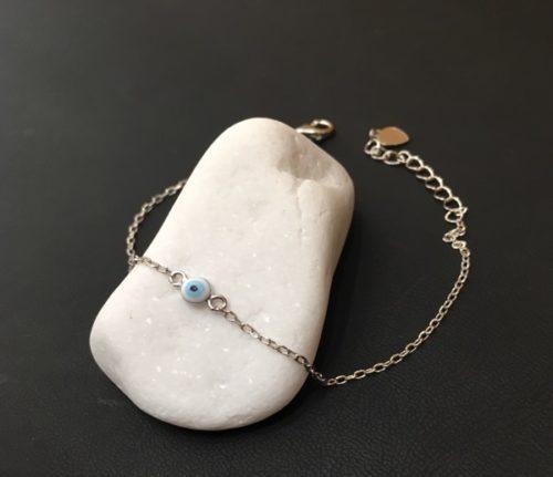 Ασημένιο επιπλατωμένο βραχιόλι με ματάκι-2-κοσμήματα-μαμόγλου-Αθήνα