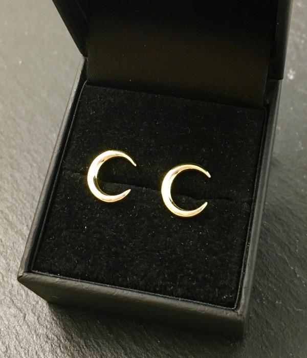 Ασημένια επιχρυσωμένα σκουλαρίκια 925° φεγγάρια - Κοσμήματα Μαμόγλου ... 5f9c111eed4
