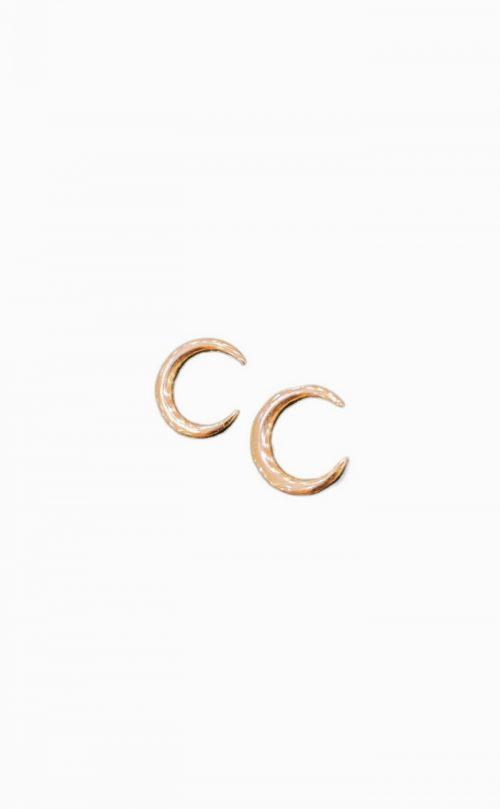 Ασημένια ροζ επιχρυσωμένα σκουλαρίκια 925 φεγγάρι-κοσμήματα μαμόγλου αθήνα-στη σωστή τιμή και ποιότητα