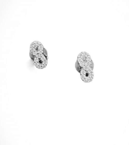 Ασημένια σκουλαρίκια 925 άπειρο με ζιργκόν-κοσμήματα μαμόγλου αθήνα-στη σωστή τιμή και ποιότητα