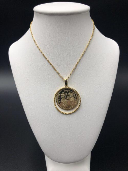 Επιχρυσωμένο κολιέ-5-κοσμήματα-μαμόγλου-Αθήνα