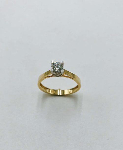 Λευκόχρυσο μονόπετρο 14Κ με ζιργκόν-5-κοσμήματα-μαμόγλου-Αθήνα