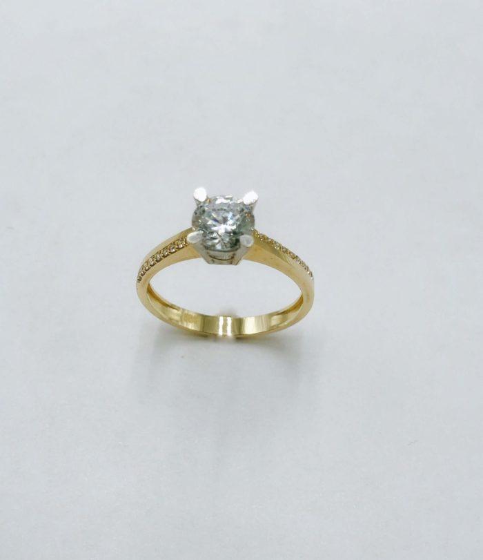 Λευκόχρυσο μονόπετρο 14Κ με ζιργκόν-7-κοσμήματα-μαμόγλου-Αθήνα