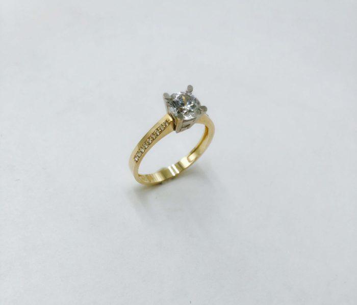 Λευκόχρυσο μονόπετρο 14Κ με ζιργκόν-72-κοσμήματα-μαμόγλου-Αθήνα