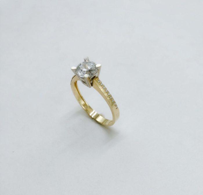 Λευκόχρυσο μονόπετρο 14Κ με ζιργκόν-73-κοσμήματα-μαμόγλου-Αθήνα