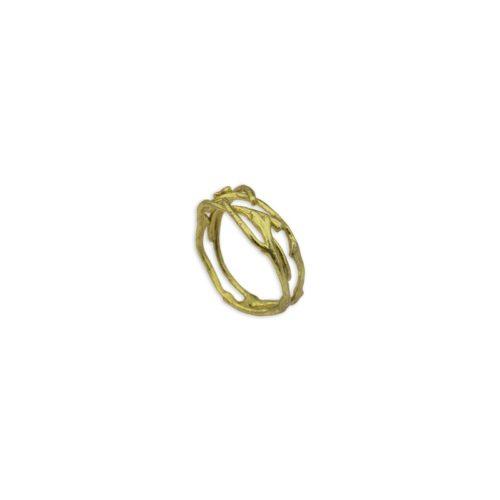 Ασημένιο επιχρυσωμένο δαχτυλίδι 4-κοσμήματα μαμόγλου Αθήνα