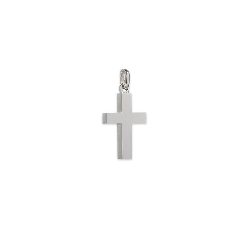Λευκόχρυσος σταυρός Κ14-1-κοσμήματα μαμόγλου Αθήνα