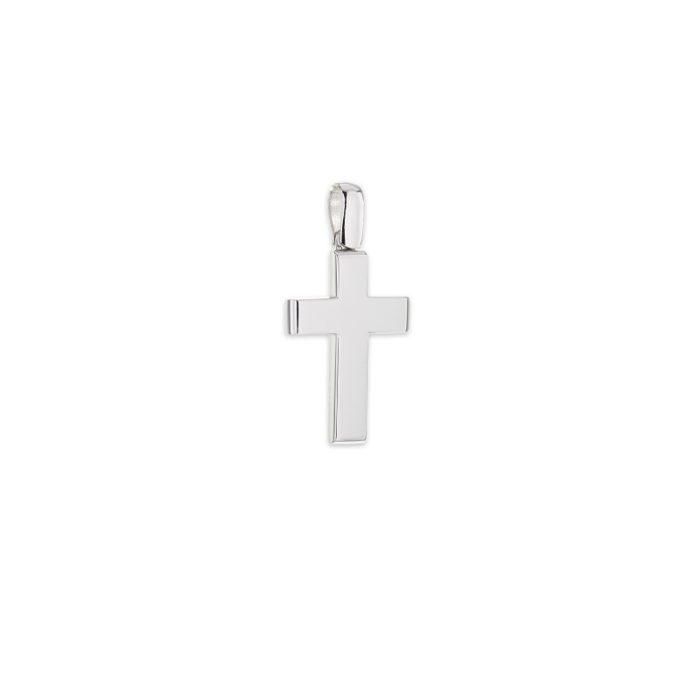 Λευκόχρυσος σταυρός Κ14-11-κοσμήματα μαμόγλου Αθήνα