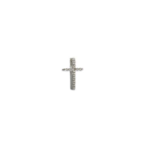 Λευκόχρυσος σταυρός Κ14-6-κοσμήματα μαμόγλου Αθήνα