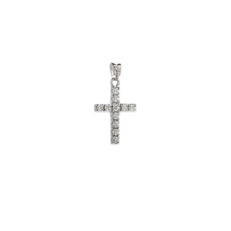 Λευκόχρυσος σταυρός Κ14-8-κοσμήματα μαμόγλου Αθήνα