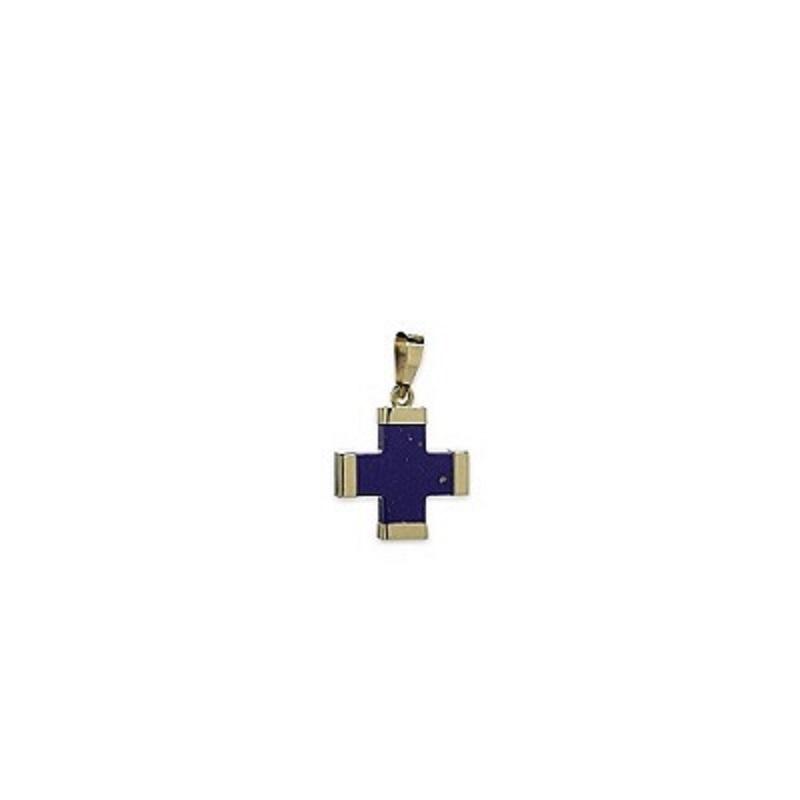 Μπλε σταυρός μικρός λάπης Κ14-1-κοσμήματα μαμόγλου Αθήνα