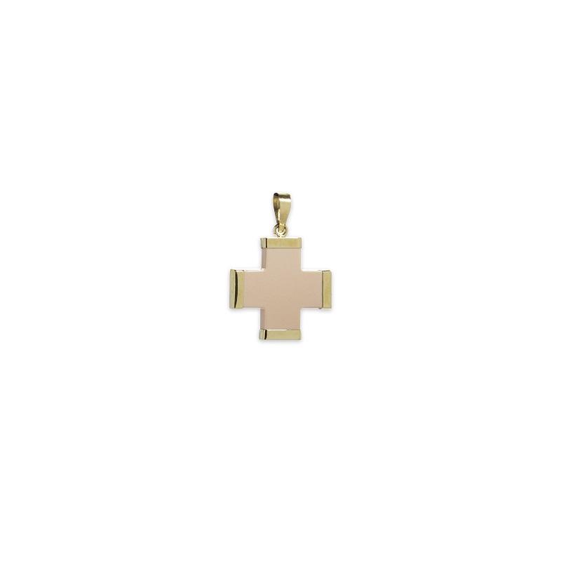 Ροζ σταυρός μεγάλος Κ14-1-κοσμήματα μαμόγλου Αθήνα