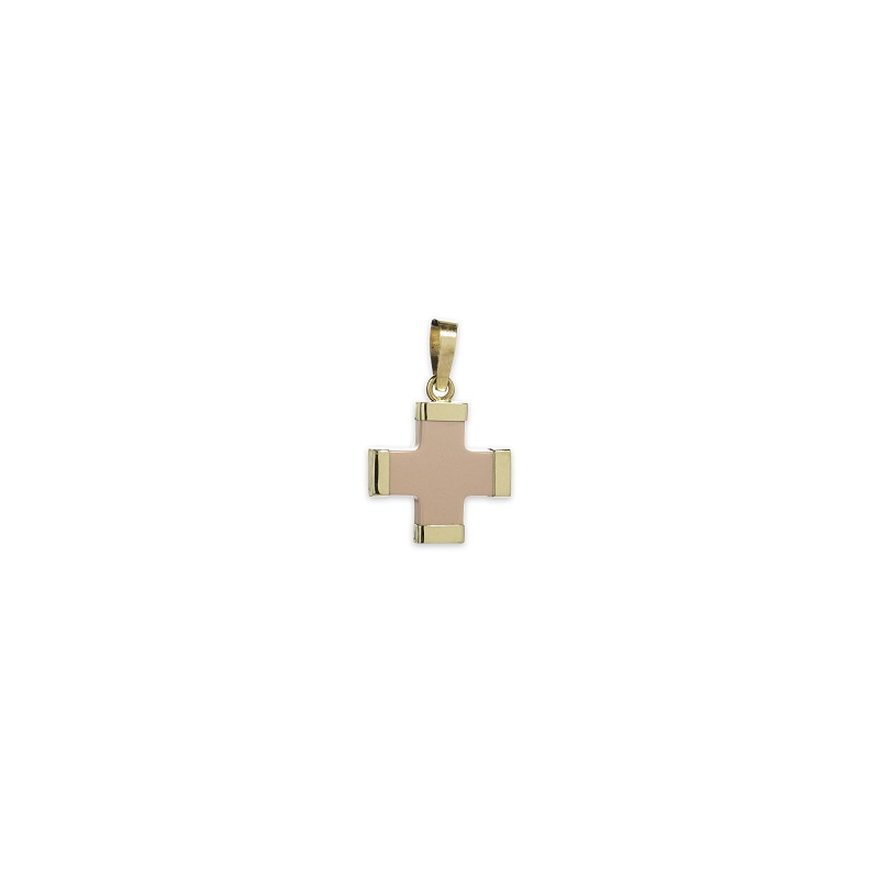 Ροζ σταυρός μικρός Κ14-1-κοσμήματα μαμόγλου Αθήνα