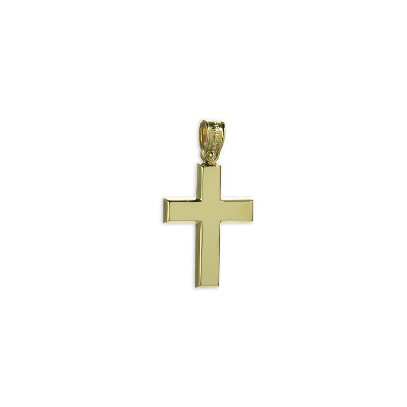Χρυσός σταυρός Κ14-1-κοσμήματα μαμόγλου Αθήνα
