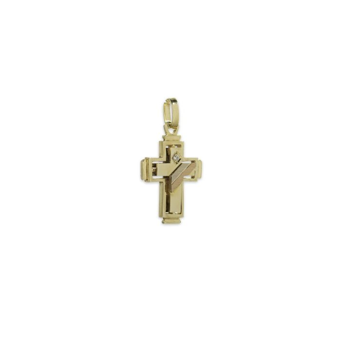 Χρυσός σταυρός Κ14-10α-κοσμήματα μαμόγλου Αθήνα