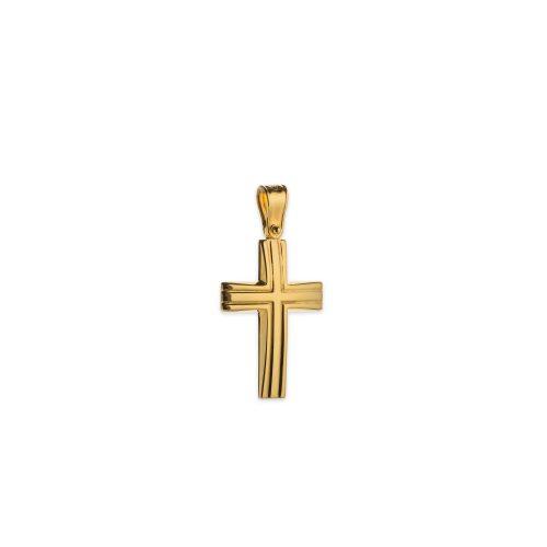 Χρυσός σταυρός Κ14-1001-κοσμήματα μαμόγλου αθήνα