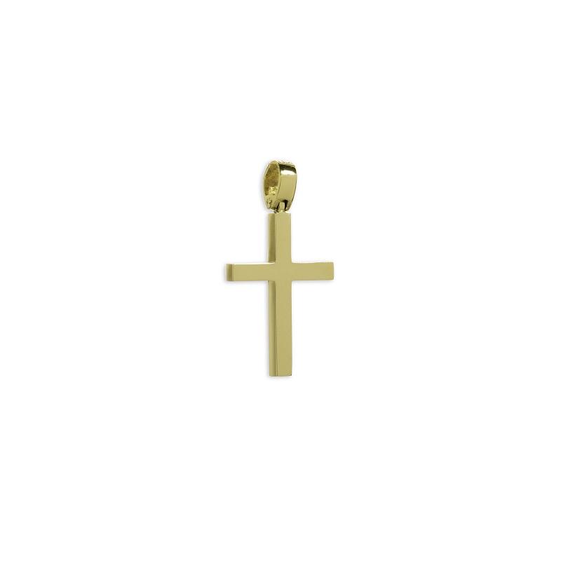 Χρυσός σταυρός Κ14-12-κοσμήματα μαμόγλου Αθήνα