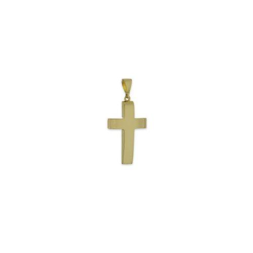 Χρυσός σταυρός Κ14-13-κοσμήματα μαμόγλου Αθήνα