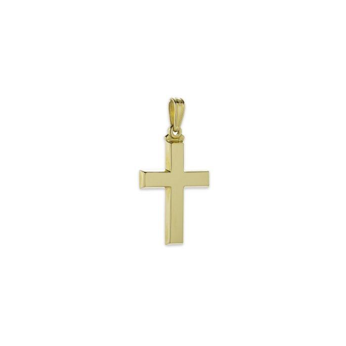 Χρυσός σταυρός Κ14-15-κοσμήματα μαμόγλου Αθήνα
