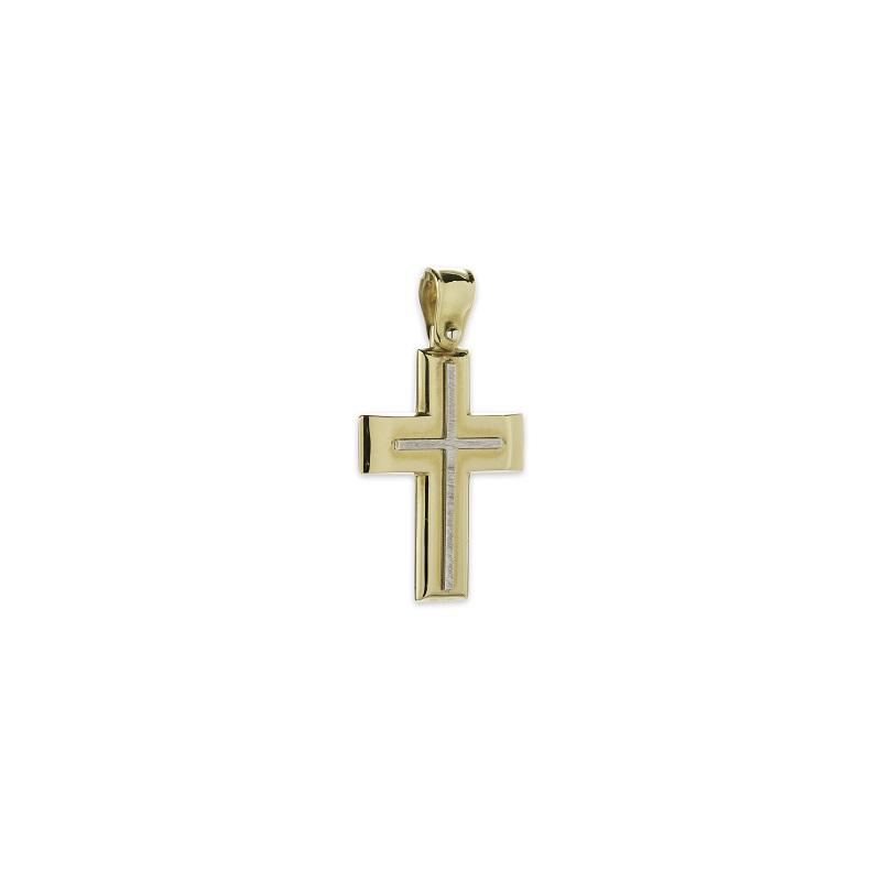 Χρυσός σταυρός Κ14-18-κοσμήματα μαμόγλου Αθήνα