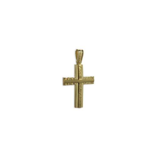 Χρυσός σταυρός Κ14-2-κοσμήματα μαμόγλου Αθήνα