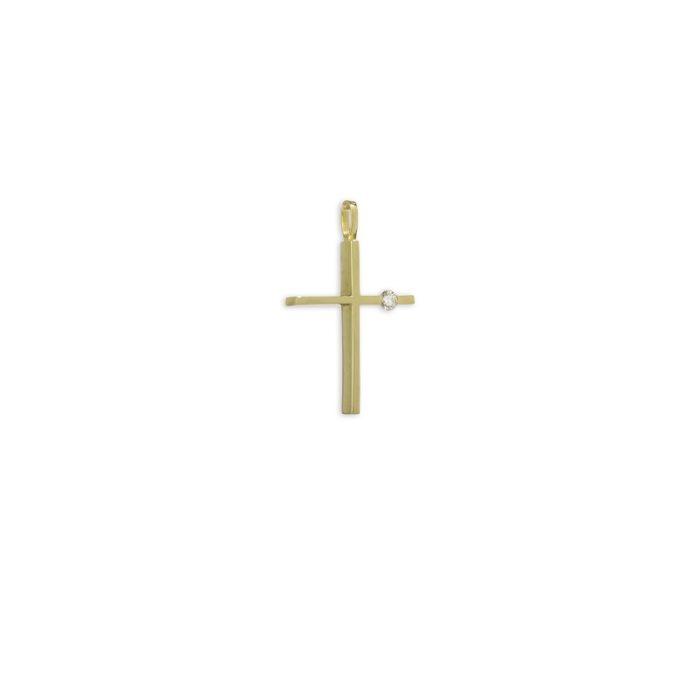 Χρυσός σταυρός Κ18-3-κοσμήματα μαμόγλου Αθήνα