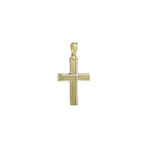 Χρυσός σταυρός Κ14-7-κοσμήματα μαμόγλου Αθήνα