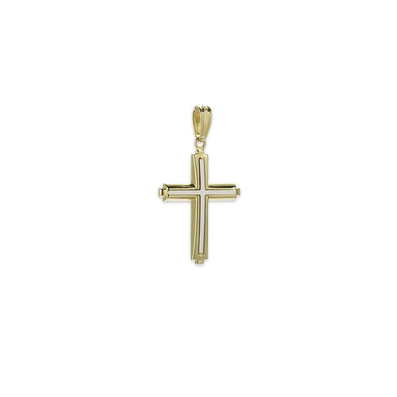 Χρυσός σταυρός Κ14-9-κοσμήματα μαμόγλου Αθήνα