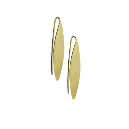 Χρυσά σκουλαρίκια κρεμαστά Κ14-2-κοσμήματα μαμόγλου Αθήνα