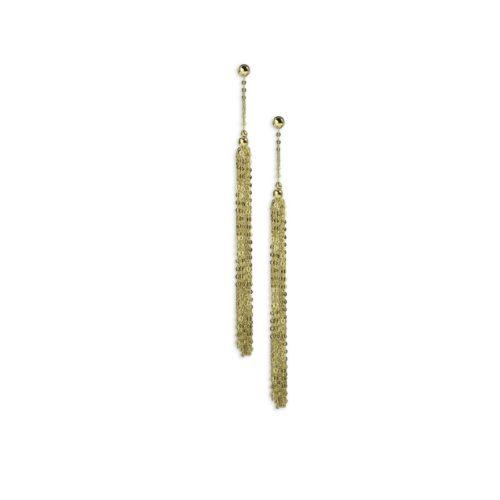 Χρυσά σκουλαρίκια κρεμαστά Κ14-4-κοσμήματα μαμόγλου Αθήνα