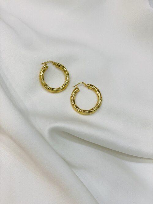 Ασημένιοι επιχρυσωμένοι κρίκοι 925-1-κοσμήματα μαμόγλου Αθήνα