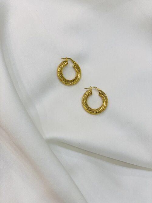 Ασημένιοι επιχρυσωμένοι κρίκοι 925-2-κοσμήματα μαμόγλου Αθήνα