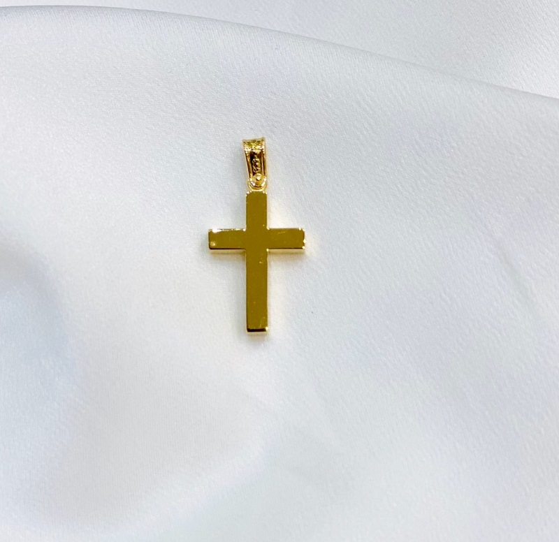 Χρυσός σταυρός Κ14-κοσμήματα μαμόγλου Αθήνα.