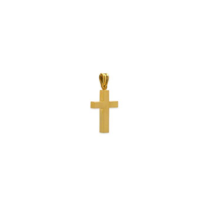 Χρυσός σταυρός Κ14-30Β-κοσμήματα μαμόγλου Αθήνα
