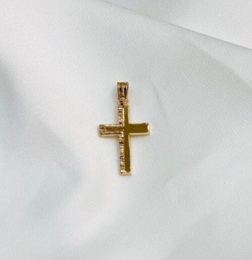 Χρυσός σταυρός Κ14-30-κοσμήματα μαμόγλου Αθήνα..