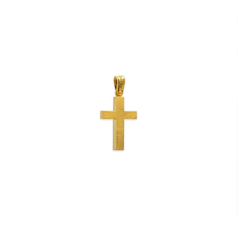 Χρυσός σταυρός Κ14-30-κοσμήματα μαμόγλου Αθήνα