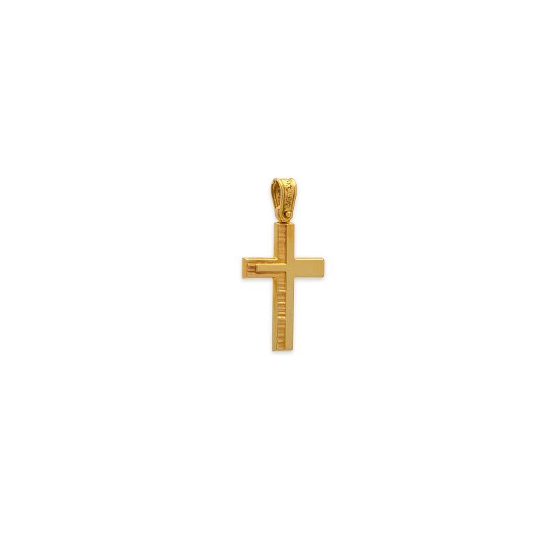 Χρυσός σταυρός Κ14-33-κοσμήματα μαμόγλου Αθήνα