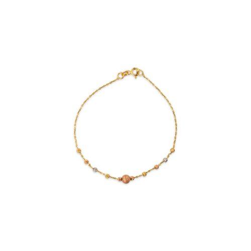 Χρυσό βραχιόλι Κ14-90-Κοσμήματα μαμόγλου αθήνα