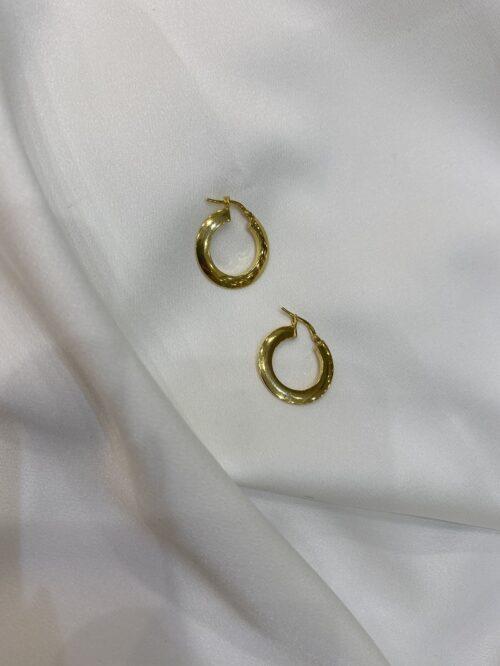Ασημένιοι επιχρυσωμένοι κρίκοι 925-6-κοσμήματα μαμόγλου Αθήνα