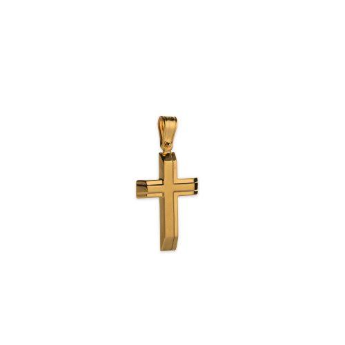 Χρυσός σταυρός Κ14-1006-κοσμήματα μαμόγλου αθήνα
