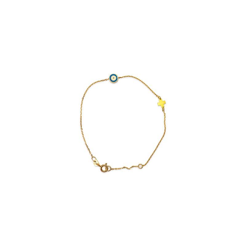 Ασημένιο επιχρυσωμένο βραχιόλι -41-κοσμήματα μαμόγλου Αθήνα