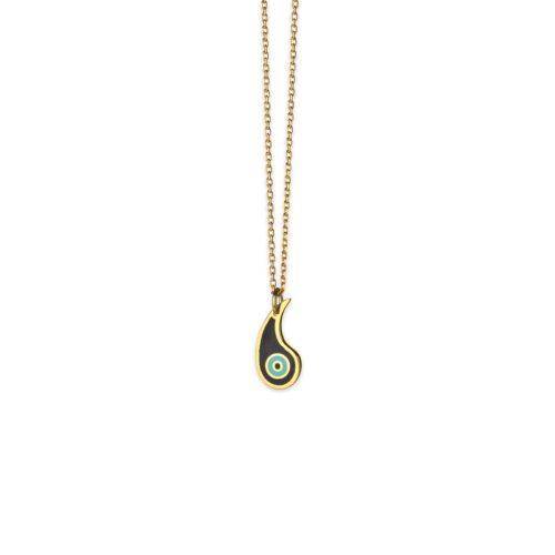Ασημένιο επιχρυσωμένο κολιέ-6-.Κοσμήματα Μαμόγλου Αθήνα