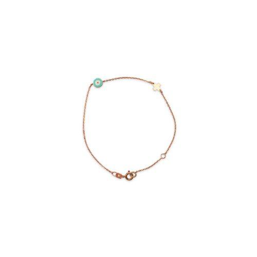 Ασημένιο ροζ επιχρυσωμένο βραχιόλι -43-κοσμήματα μαμόγλου Αθήνα