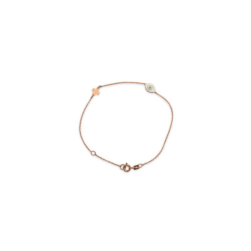 Ασημένιο ροζ επιχρυσωμένο βραχιόλι -46-κοσμήματα μαμόγλου Αθήνα