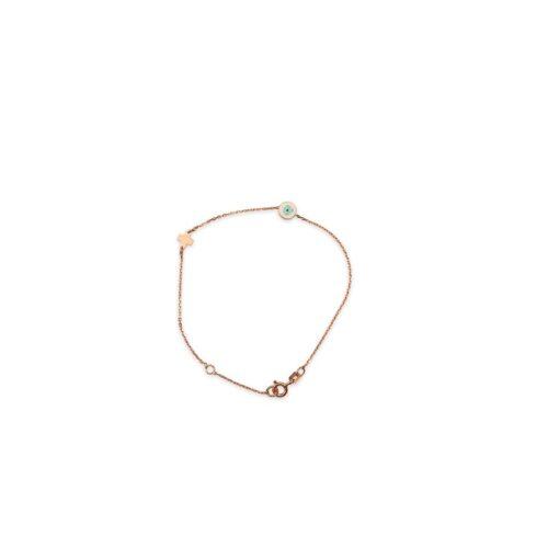 Ασημένιο ροζ επιχρυσωμένο βραχιόλι -47-κοσμήματα μαμόγλου Αθήνα