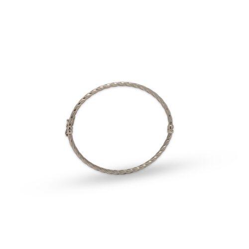 Βραχιόλι ασημένιο στριφτό-43-κοσμήματα μαμόγλου Αθήνα
