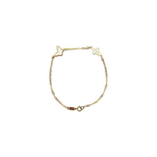 Βραχιόλι πεταλούδα-σταυρός Κ9-48-κοσμήματα μαμόγλου Αθήνα