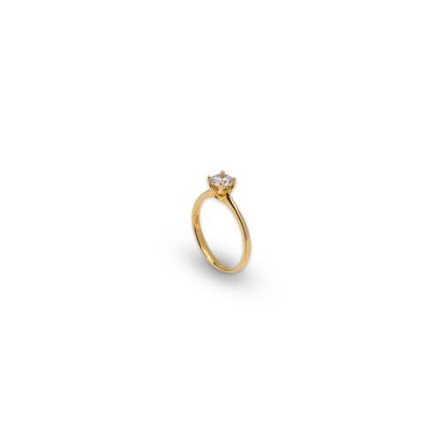 Χρυσό μονόπετρο Κ14-42-κοσμήματα μαμόγλου Αθήνα