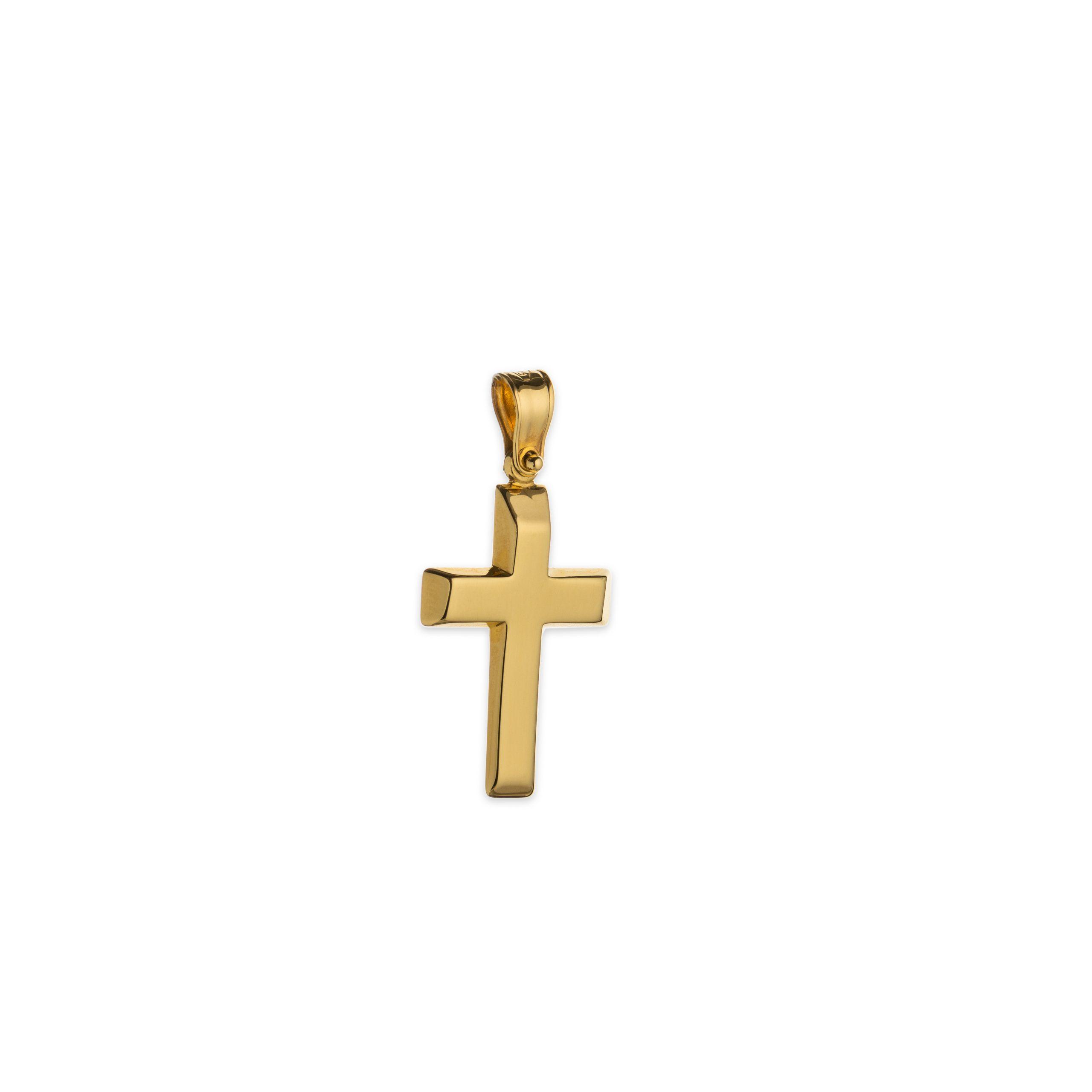 Χρυσός σταυρός Κ14-1003-κοσμήματα μαμόγλου αθήνα